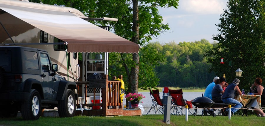 glamping in an rv