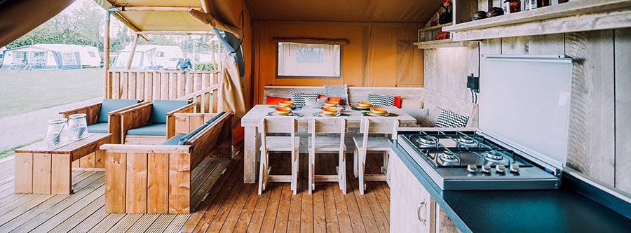 kitchen glamping