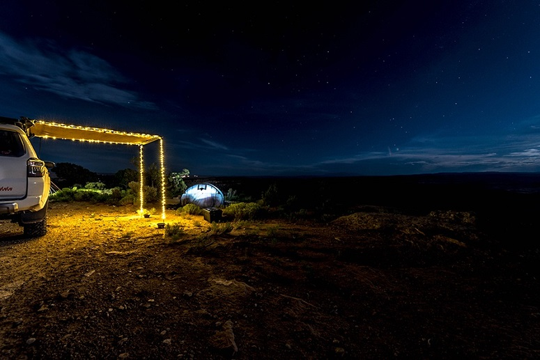 Using Light In Camp