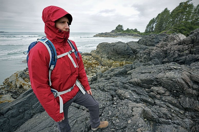 Hiker In Clothes For Rain