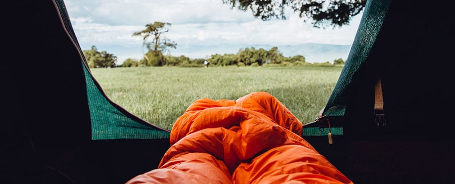 sleeping bags should be slighty longer than your feet