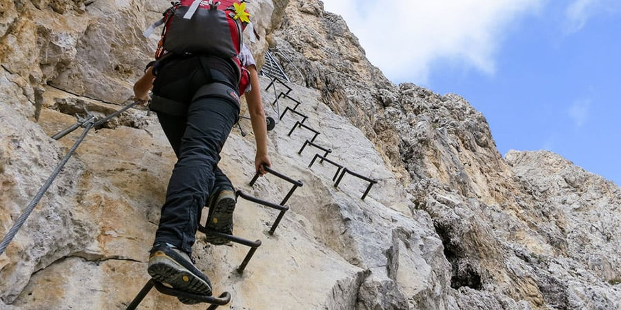 The Via Ferrata Routes Italian Dolomites