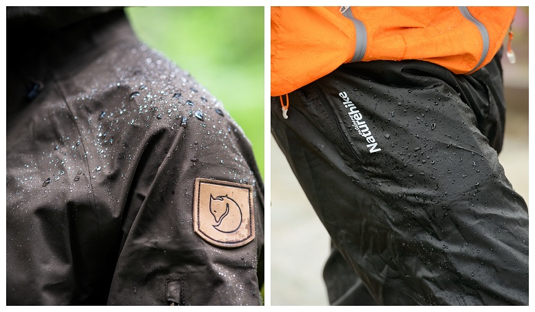 Drops Of Water On Clothes For Hiking