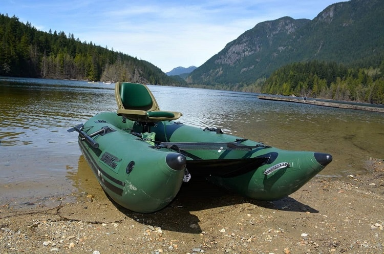 Green Inflatable Pontoon Boat