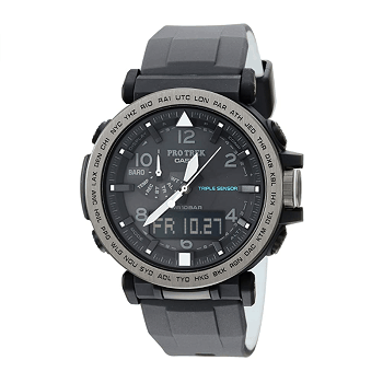 Casio Men's 'PRO TREK' Solar Powered Silicone Watch