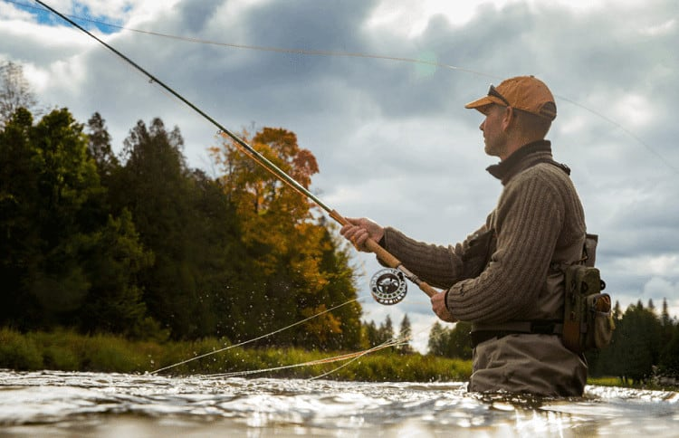 If you are a beginning fisherman, you will want to start out with a rod that is between 8 and 9 feet in length. However, if your are primarily going to be fishing in creeks and small waterways, you will be better off with a much shorter rod. Look for a rod that is between 6 and 8 feet in length. This will allow you to get in around rocky areas and branches that may be overhanging the waterway. If you are a relatively experienced fisherman and plan to fish in large bodies of water, you should go for a larger rod.