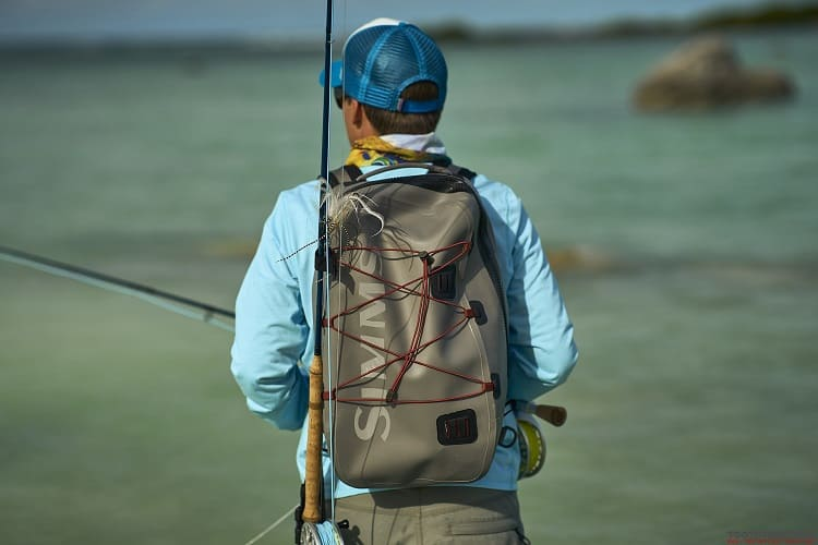 Wearing Fly Fishing Backpack