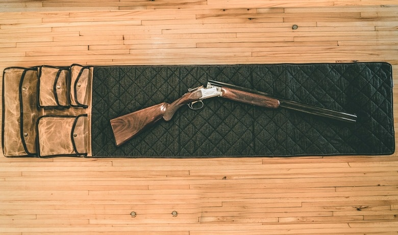 Rifle on Cleaning Mat