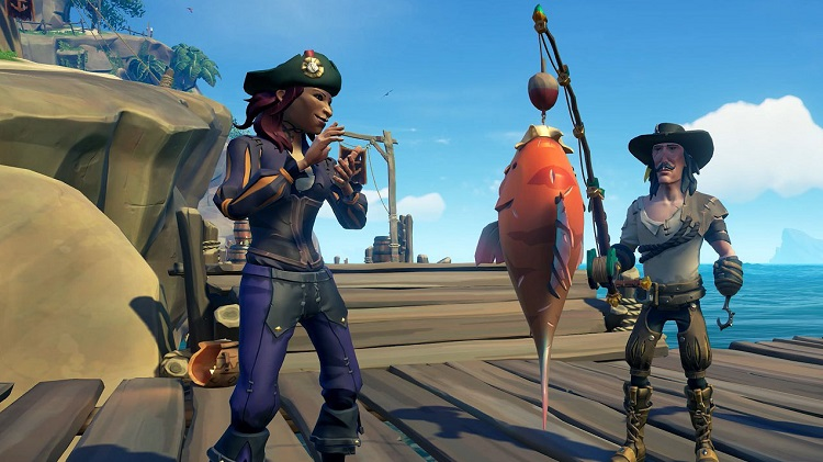 Fishing in Sea of Thieves