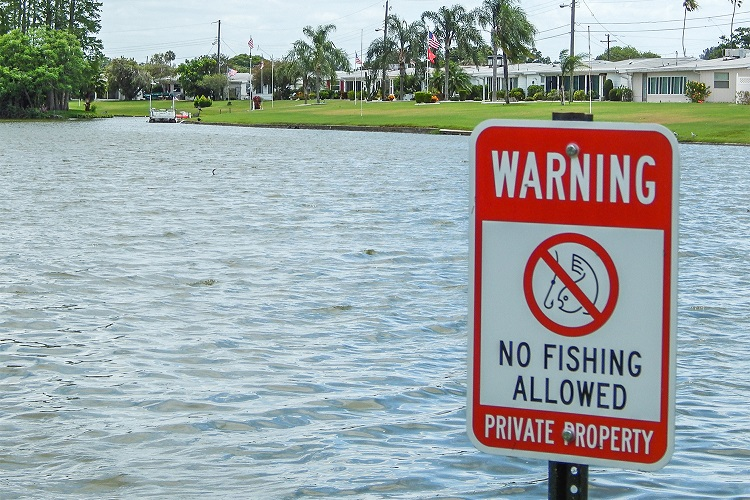 fishing on private property